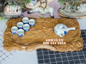 Khay trà gỗ bền đẹp - Tạo sự khác biệt cho riêng bạn