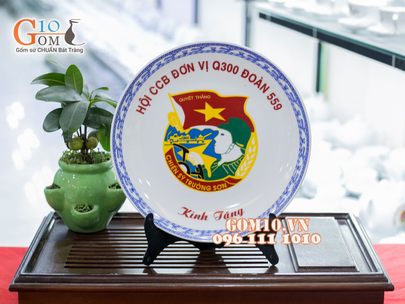 Đĩa trang trí Bát Tràng sản phẩm gốm sứ quà tặng cao cấp 2