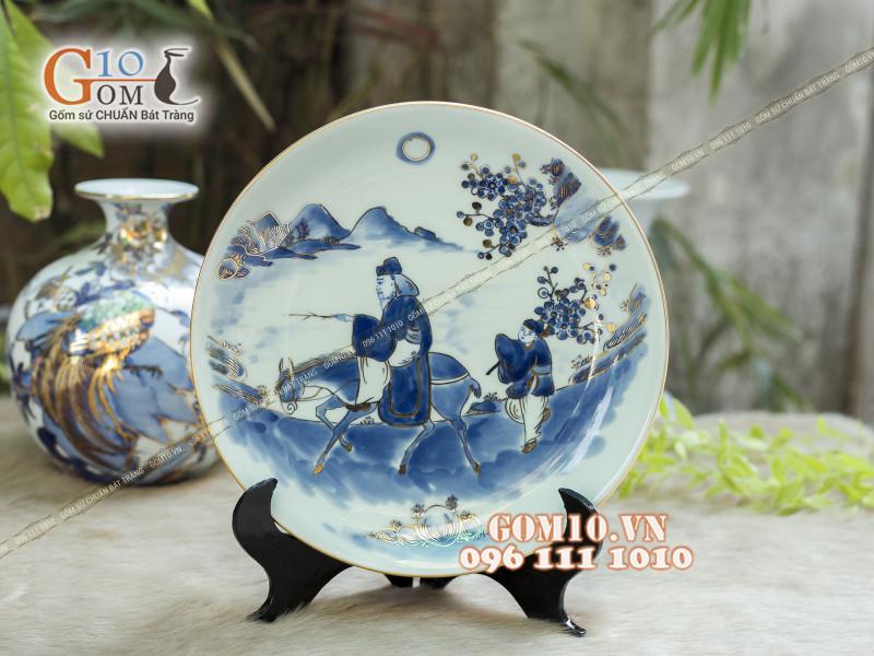 Đĩa trang trí Bát Tràng sản phẩm gốm sứ quà tặng cao cấp 5