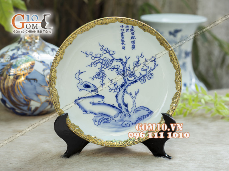 Đĩa trang trí Bát Tràng sản phẩm gốm sứ quà tặng cao cấp 15