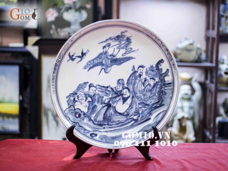Đĩa trang trí Bát Tràng sản phẩm gốm sứ quà tặng cao cấp 11
