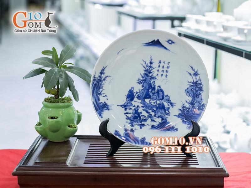 Đĩa trang trí Bát Tràng sản phẩm gốm sứ quà tặng cao cấp 8