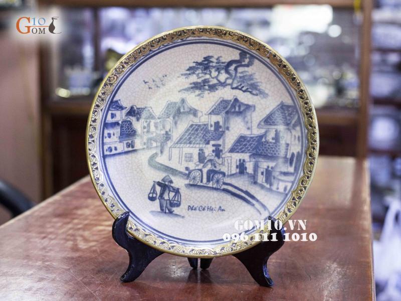 Đĩa trang trí Bát Tràng sản phẩm gốm sứ quà tặng cao cấp 10