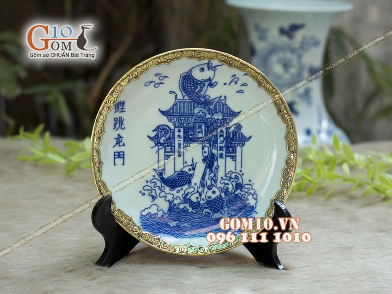 Đĩa trang trí Bát Tràng sản phẩm gốm sứ quà tặng cao cấp 14