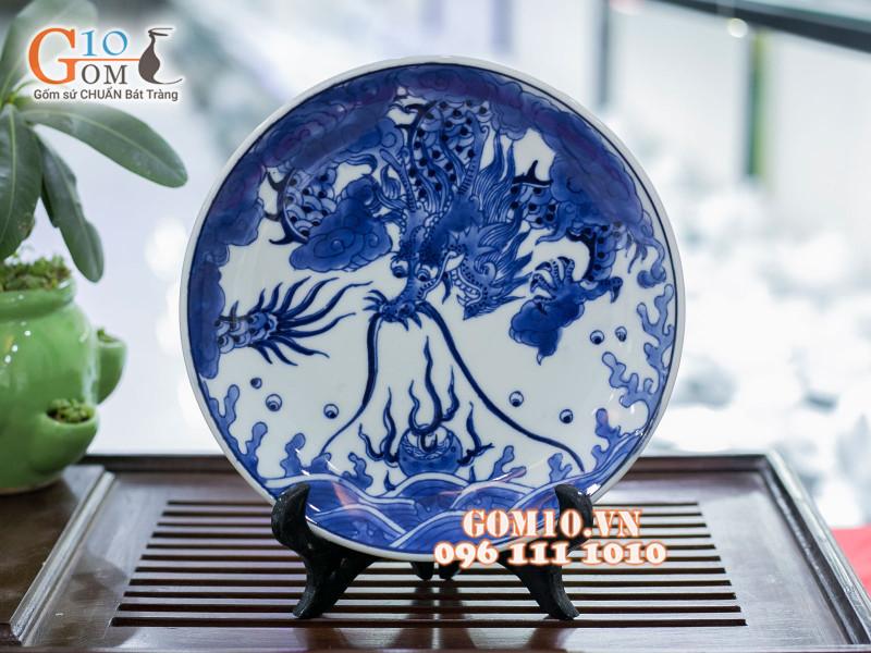 Đĩa trang trí Bát Tràng sản phẩm gốm sứ quà tặng cao cấp 6