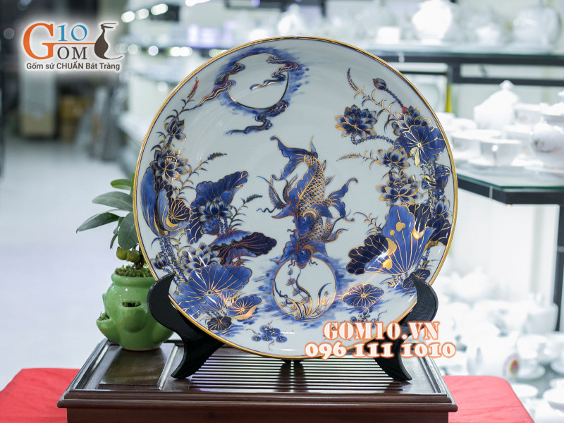 Đĩa trang trí Bát Tràng sản phẩm gốm sứ quà tặng cao cấp 1