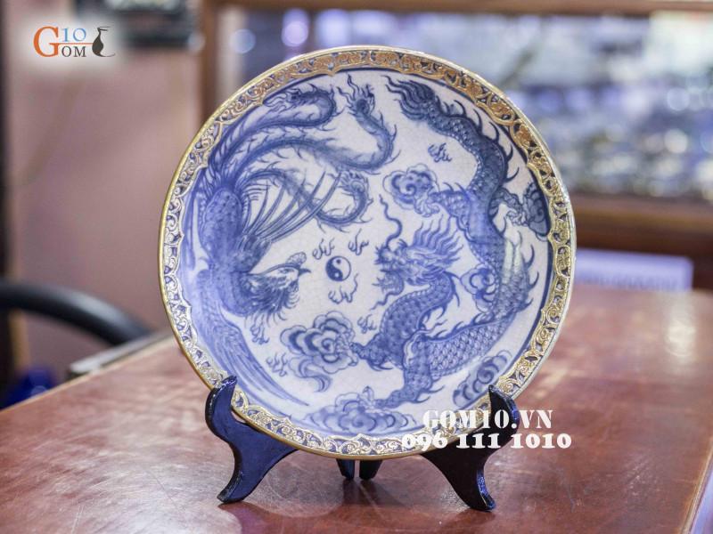 Đĩa trang trí Bát Tràng sản phẩm gốm sứ quà tặng cao cấp 7