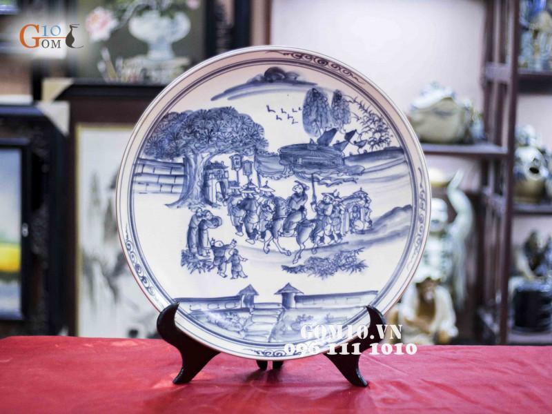 Đĩa trang trí Bát Tràng sản phẩm gốm sứ quà tặng cao cấp 9