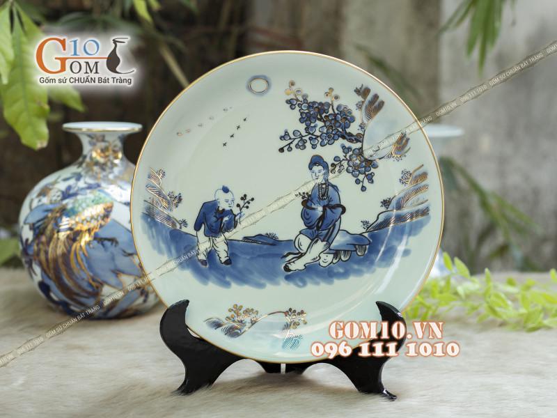 Đĩa trang trí Bát Tràng sản phẩm gốm sứ quà tặng cao cấp 13